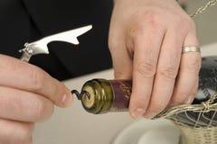 вино отверстия бутылки корзины Стоковое Изображение RF