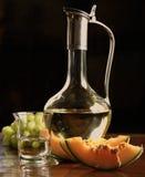 вино отрезанное дыней белое Стоковые Изображения