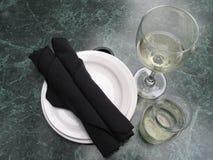 вино плит Стоковые Фото