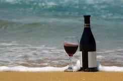 вино пляжа стоковое изображение