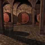 вино погреба иллюстрация вектора