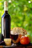 вино португалки еды Стоковая Фотография RF