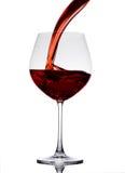вино политое стеклом красное Стоковые Изображения