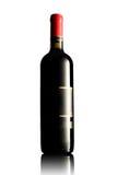 вино пустого ярлыка бутылки красное стоковое изображение rf