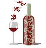 Вино пьяное Стоковые Фотографии RF