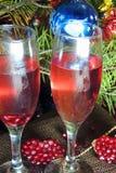 Вино, рождественская елка, Новый Год стоковое изображение