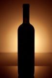 вино сбора винограда типа силуэта бутылки Стоковая Фотография RF