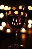 вино света горящей свечи Стоковые Изображения