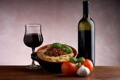вино соуса ragu farfalle Стоковое Изображение