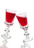 вино стекел красное Стоковая Фотография