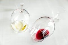 вино стекел красное белое Стоковое фото RF