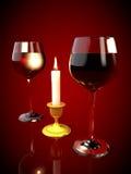 вино стекел красное Стоковое Фото