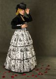 вино стеклянного портрета повелительницы ретро Стоковые Фото