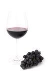 вино стеклянных виноградин красное Стоковое фото RF