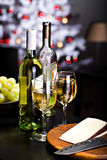 вино сыра белое Стоковая Фотография RF