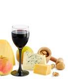 вино сыра яблока Стоковые Фотографии RF