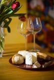 вино сыра Стоковая Фотография