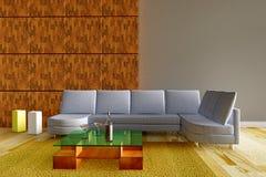 вино таблицы комнаты бутылочного стекла 3d нутряное Стоковое Фото