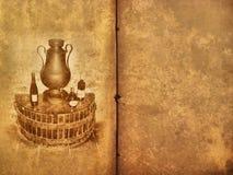 вино таблицы меню книги старое Стоковые Фото