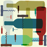 вино типа предпосылки ретро Стоковое Фото