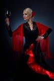 вино удерживания flamenco танцора стеклянное Стоковое фото RF