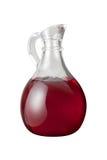 вино уксуса путя клиппирования красное Стоковое Фото