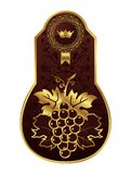 вино упаковки рамки золотистое Стоковые Изображения