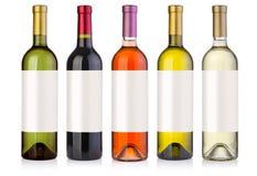 вино установленное бутылками Стоковое фото RF