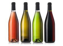 вино установленное бутылками Стоковое Изображение