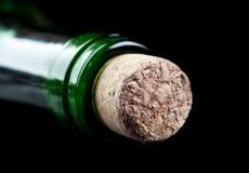 вино фото макроса бутылки Стоковое фото RF