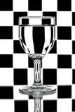 вино черных стекел backlight белое Стоковые Изображения