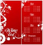 вино шаблона меню списка Стоковые Фотографии RF