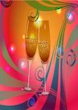 Вино шампанского здравицы Иллюстрация вектора