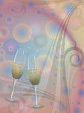 Вино шампанского здравицы Иллюстрация штока