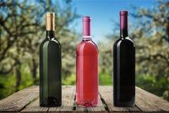 вино шкафа бутылки старое Стоковое Изображение