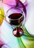 вино штанги спирта стеклянное красное Стоковая Фотография RF