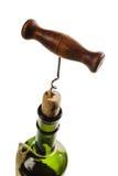 вино штопора бутылки Стоковые Фотографии RF