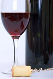 вино штопора пробочки бутылки стеклянное красное Стоковое Изображение RF