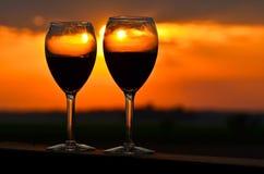 Вино для 2 Стоковые Изображения