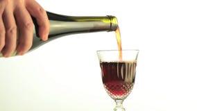 Вино Cinemagraph- лить снова и снова в элегантном стекле видеоматериал