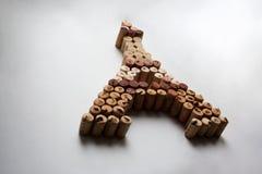 Вино corks миниатюра Эйфелевой башни стоковое фото rf