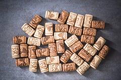 Вино corks накладные расходы предпосылки Стоковое Фото