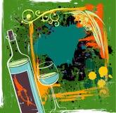 вино grunge предпосылки Стоковая Фотография