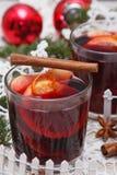 вино mulled рождеством Стоковые Изображения
