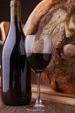 вино serrano ветчины красное Стоковые Фотографии RF