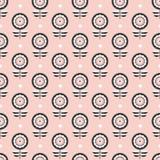Винтажная абстрактная флористическая безшовная картина иллюстрация вектора