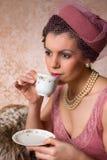 Винтажная дама двадчадк Стоковое Изображение