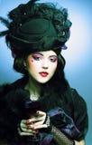 Винтажная дама. Стоковые Изображения