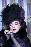 Винтажная дама Стоковые Фото