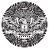 Винтажная американская эмблема значка иллюстрация штока